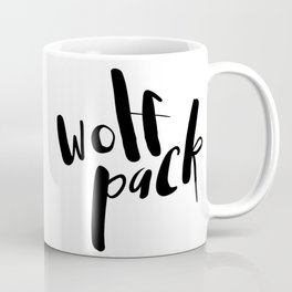Wolf Pack Typography Coffee Mug