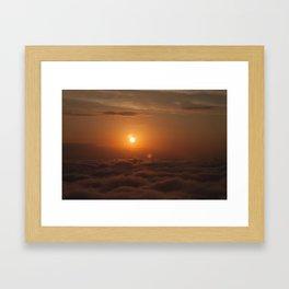 Three Sun SunSet Framed Art Print