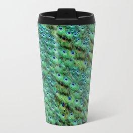 Peacock Feather Waterfall Travel Mug