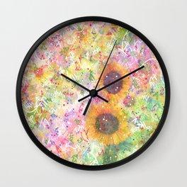 Cosmic Helianthus - Sunflowers Wall Clock
