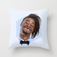 danny ivan Throw Pillows featuring Danny Brown by LinnMaria_ink
