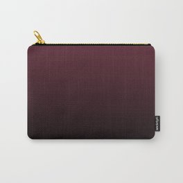 Burgundy Wine Ombre Gradient Carry-All Pouch
