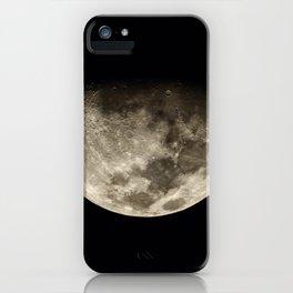 Moon Black 4 iPhone Case