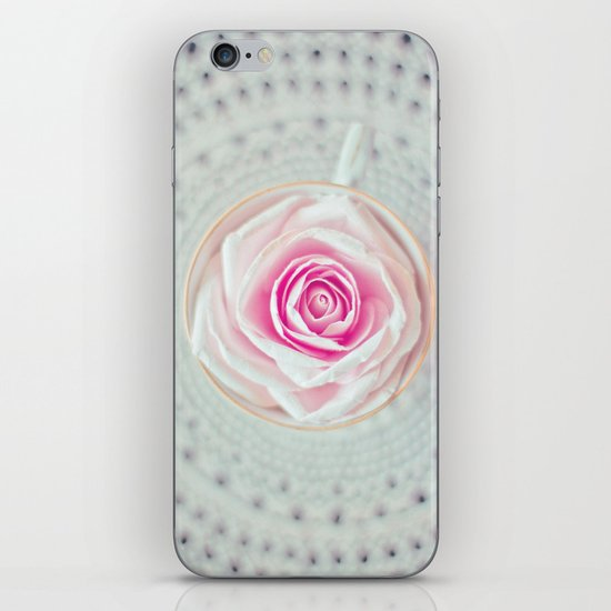 A Cup Of Rose iPhone & iPod Skin