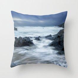 Stormy Church Cove Throw Pillow