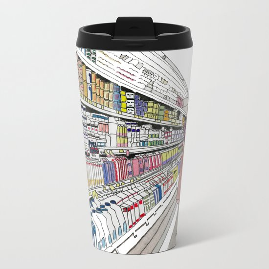 Jeffrey Lebowski and Milk. Metal Travel Mug