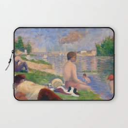 "Georges Seurat ""Final Study for Bathers at Asnières"" Laptop Sleeve"