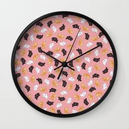 Bunnies! Wall Clock