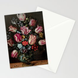 """Andries Daniels and Frans Francken the Younger """"Vase with Tulips"""" Stationery Cards"""