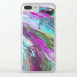 471 - Abstract colour Design Clear iPhone Case