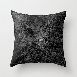 raleigh map north carolina Throw Pillow