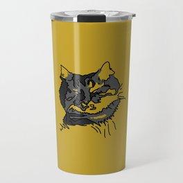 Mustard Sleeping Cat Travel Mug