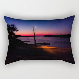 Sitting by the Sunset Rectangular Pillow