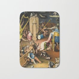 The Garden of Earthly Delights - Bosch - Hell Bird Man Detail Bath Mat