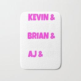 90s Boys Band Kevin, Howie, Brian, Nick, AJ & Me Backstreet Premium T-Shirt Bath Mat