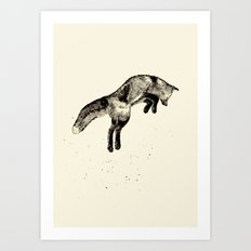 Fox Ink Art Print