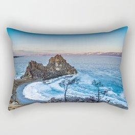 Shaman Rock on Olkhon Island, Baikal Rectangular Pillow