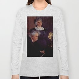 Edvard Grieg (1843 – 1907) accompanying his wife by Peder Severin Kroyer (1851-1909) Long Sleeve T-shirt