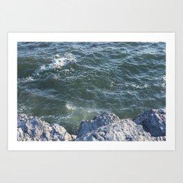 Teal Ocean Art Print