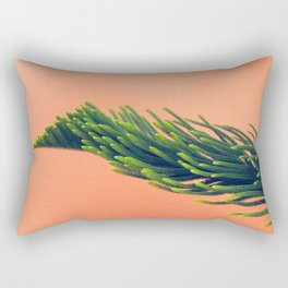 Complementary Colors Green Salmon Pink Against Background Rectangular Pillow