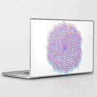 techno Laptop & iPad Skins featuring Techno Flower by HayleyM