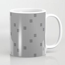 Tone on Tone Gray Print Coffee Mug