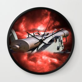 Cannon and bombing Wall Clock