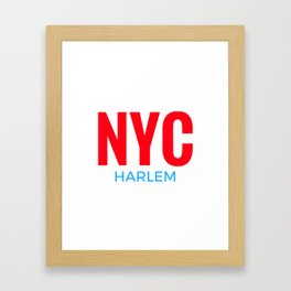 NYC Harlem Framed Art Print