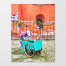 Raspado Cart, Holy Week 2017 Canvas Print