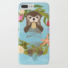 Sea Otter Holiday Card Slim Case iPhone 7 Plus