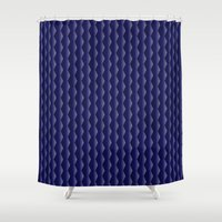 scales Shower Curtains featuring Scales by Cherie DeBevoise