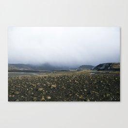 Fog & Rocks Canvas Print