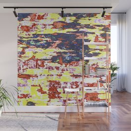 Multicolored Abstract Grunge Texture Print Wall Mural