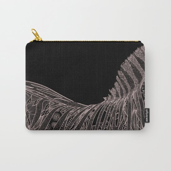 Gorgeous Abstract Zebra Flowers Design Carry-All Pouch