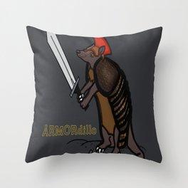 ARMORdillo Throw Pillow