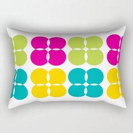 Colorful Bejeweled Circles Rectangular Pillow