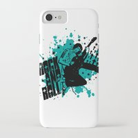 rock and roll iPhone & iPod Cases featuring Rock & Roll by Chamber Decals