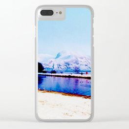 Corpach Sea loch, Highlands of Scotland Clear iPhone Case