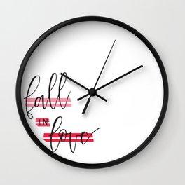 Fall in Love Wall Clock