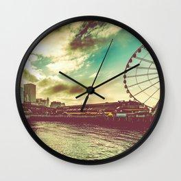 Seattle Pike Place Market Pier 57 Wall Clock