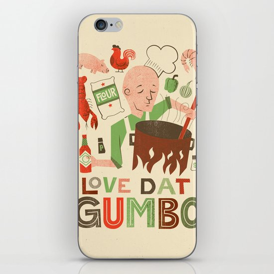 Love Dat Gumbo iPhone & iPod Skin