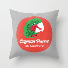 Cayman Parrot Throw Pillow