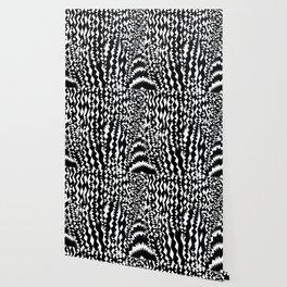 Zebra, abstract geometric pattern Wallpaper