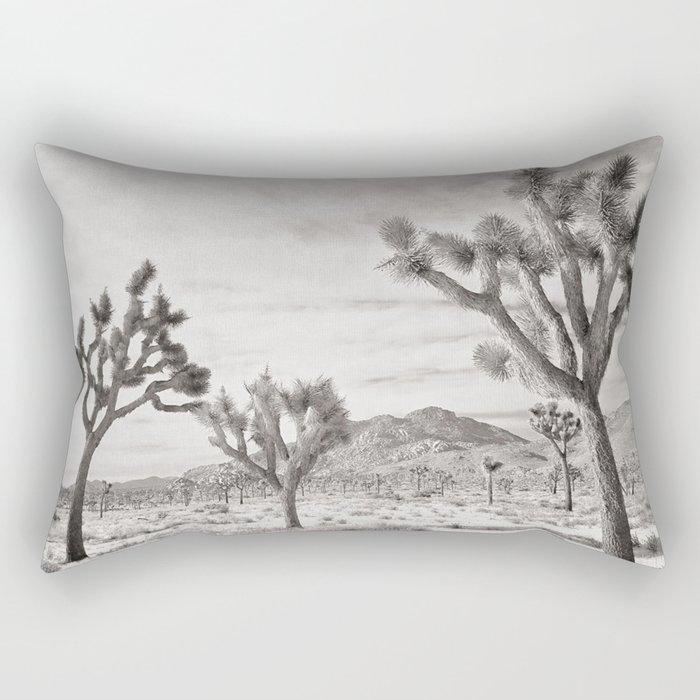 Joshua Tree Grey By CREYES Rectangular Pillow