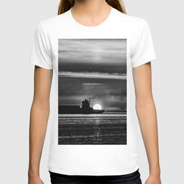 Silhouette... Black and White T-shirt