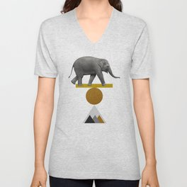 Tribal Elephant Unisex V-Neck