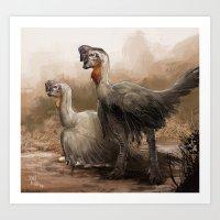 oviraptor nest  Art Print