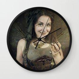 Steampunk Tinker Fairy Wall Clock
