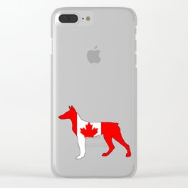 Canada Doberman Clear iPhone Case