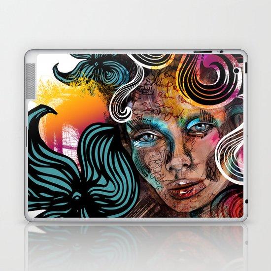 colorful girl Laptop & iPad Skin